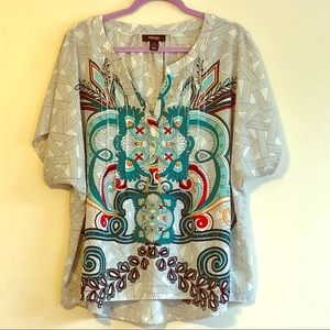 Printed/Studded Blouse